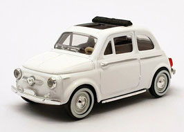 Fiat 500 Nuova 1957-1960 weiss Faltdach offen schwarz