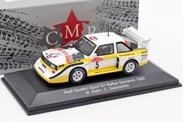 Audi Sport Quattro S1 #5 Winner Rallye SanRemo 1985 W. Röhrl / C. Geistdörfer