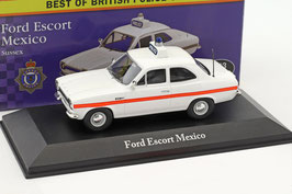 "Ford Escort MK I Mexico 1970 ""Sussex Police"" RHD weiss"