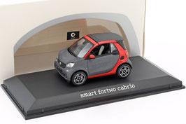 Smart fortow Cabriolet A453 seit 2016 matt-grau met. / rot