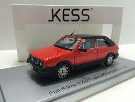 Fiat Ritmo 100 S Supercabrio Bertone Phase II 1982-1987 rot / Verdeck geschlossen schwarz