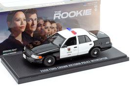 "Ford Crown Victoria II 1997-2011 ""LAPD TV-Serie The Rookie seit 2018 schwarz / weiss"""