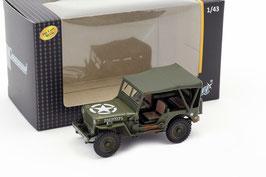 Jeep Willys US Army 1942-1945 matt-oliv Verdeck geschlossen