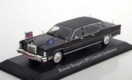 Lincoln Continental 1972 President Car Ronald Reagan schwarz