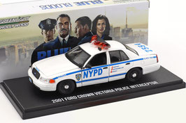 "Ford Crown Victoria II 1997-2011 NYPD ""TV-Serie Blue Bloods"" weiss / blau"