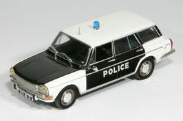 Simca 1501 Break 1966-1976 Police schwarz / weiss