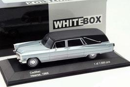 Cadillac Hearse / Bestattungswagen 1966 silberblau met. / matt-schwarz