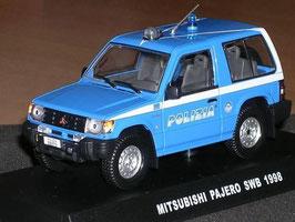Mitsubishi Pajero SWB 1998 Polizia blau / weiss