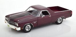 Chevrolet El Camino Pick Up 1970 dunkel rot met. / schwarz