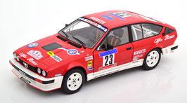 Alfa Romeo GTV6 #23 Rallye Tour de Corse 1985 Y. Loubet / J-B. Vieu rot / Decor