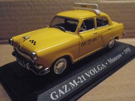 """Wolga GAZ M-21 1955-1970 """"TAXI Moskau 1955 gelb"""""""