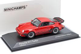 Porsche 911 / 930 Turbo 3.3 1978-1989 Indisch rot / schwarz