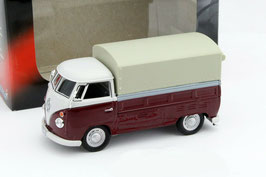 VW T1c Pick Up / Plane 1963-1967 dunkelrot / weiss / grau