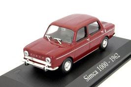 Simca 1000 Phase I 1961-1968 dunkelrot