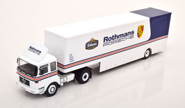 """MAN 19.320 Büssing Sattelschlepper 1975 """"Rothmans-Porsche Race Transport weiss / blau"""""""