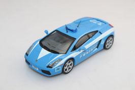 Lamborghini Gallardo 2004 Polizia Italia  blau / weiss