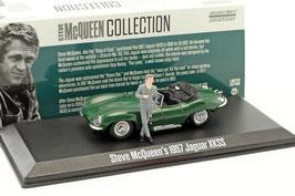 "Jaguar XKSS Roadster 1957 dunkelgrün ""Steve McQueen mit Figur"