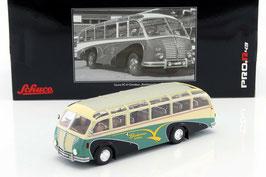 """Saurer 3C-H Omnibus 1951 """"Bachmann Kölliken"""" grün / creme / schwarz"""