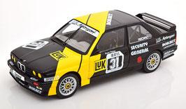 BMW M3 E30 #31 MK Motorsport DTM 1988 Kurt Thiim schwarz / gelb / Decor