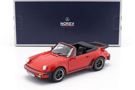 Porsche 911 / 930 Turbo Cabriolet 1982-1989 rot / schwarz