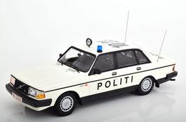 """Volvo 240 GL 1984-1991 """"Politi Denmark"""" weiss / schwarz"""