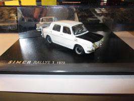 Simca 1000 Rallye 1 1970-1972 weiss / matt-schwarz
