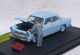 Simca Vedette Trianon 1953-1957 hellblau Diorama