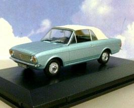 Ford Cortina MK II Crayford Convertible 1967 RHD türkis met. / Verdeck geschlossen weiss