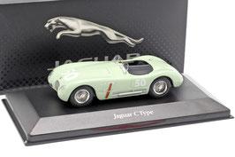 Jaguar C-Type #50 GP Reims 1952 Stirling Moss RHD hellgrün