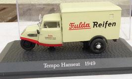 "Tempo Hanseat Dreirad 1949-1956 ""Fulda Reifen"" beige / rot"