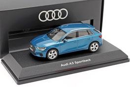 Audi A3 Sportback 8Y seit 2020 Atollblau met.