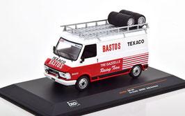"""Fiat 242 Lieferwagen Phase I 1975-1980 """"Bastos Assistance mit Dachträger weiss / rot"""""""
