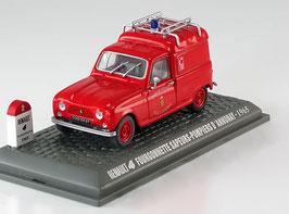 """Renault 4 Fourgonnette """"Sapeurs Pompiers D' Annonay 1963"""" rouge"""