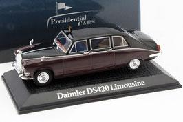Daimler DS420 Limousine Queen Mum Elisabeth Bowes Lyon 1970 dunkelrot / schwarz