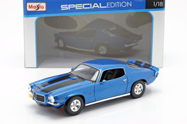 Chevrolet Camaro II Phase I 1970-1974 blau met. / matt-schwarz