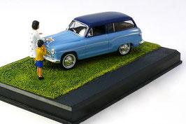 Simca P60 Ranch 1961-1963 hell-/dunkelblau Diorama