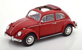 VW Käfer 1961-1974 rot mit Faltdach offen
