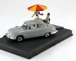Panhard Dyna Z Berline 1953-1960 grau Diorama La Route Bleue