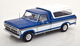 Ford F-100 Pick Up mit Hardtop 1975 blau / weiss