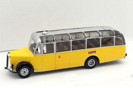 "Saurer L4C Alpenwagen ""Postauto Schweiz PTT"" 1949-1954 gelb / silber"