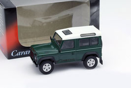 Land Rover Defender 90 3-Türer 1990-2016 dunkelgrün / weiss