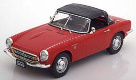 Honda S800 Roadster 1966-1970 rot / Verdeck geschlossen schwarz