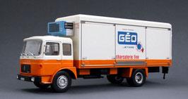 """Saviem SM 240 Kühlwagen """"GEO 1972"""" weiss / orange"""