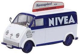 """DKW F 89L Schnelllaster Lieferwagen 1949-1962 """"NIVEA-Hansaplast"""" weiss / dunkelblau"""