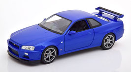 Nissan Skyline GT-R R34 1999-2003 blau met.