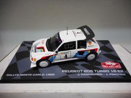 Peugeot 205 Turbo T16 E2 #4 Rally Monte Carlo 1986 J. Kankkunen / J. Piironen