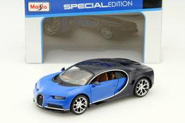 Bugatti Chiron seit 2016 blau / schwarz