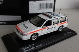"""Volvo V70 I 1996-2000 """"Kantonspolizei Waadt / Vaudoise"""" weiss / orange / blau"""