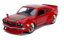 Mazda RX-3 JDM Tuning 1972-1978 RHD rot / gold