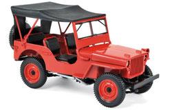 Jeep Willys 1942-1945 rot / Verdeck geschlossen schwarz
